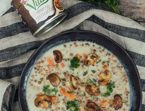 Супа од печурки со спелта
