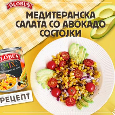 mediteranska salata so avokado